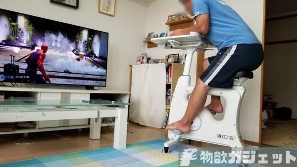デスクと合体した「FlexiSpot V9」エアロバイクレビュー!運動しながらゲームやTV、PCが捗る自堕落ダイエットマシン