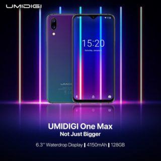 UMIDIGI初の大画面スマホとなる6.3インチの「One Max」の投入を予告