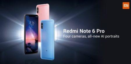 【4GB+64GB版189.99ドル】200ドル以下でミドルハイ「Xiaomi Redmi Note 6 Pro」発売!4カメラ&ノッチデザインディスプレイに進化!