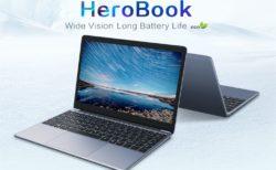 100ドル台の14.1インチノートPC『CHUWI HeroBook』発売! TDP 5Wの超低消費電力CPU搭載で9時間駆動