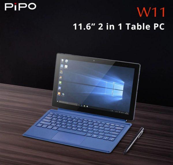 【248.99ドルクーポン追加】キーボードもスタイラスペンも付いた全部入り2in1タブレット再び! 「PiPO W11」発売~