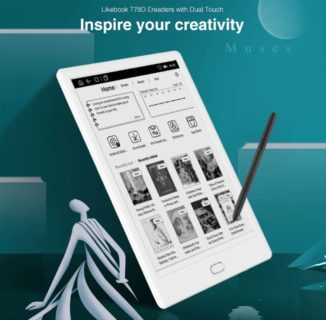 ホームボタンと筆圧ペンが付いたE-Ink 7.8インチAndroidタブ「Boyue Likebook Muses T78D」発売