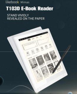 【先着50台 469.99ドル】電子ペーパー10.3インチAndroidタブレット『Likebook Mimas T103D』発売!筆圧スタイラスペンでメモ/お絵かきも可能
