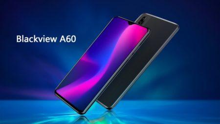 低価格スマホライン「Blackview A60 」発表~ローエンドなのに水滴ノッチでベゼルが薄いデザインが特徴