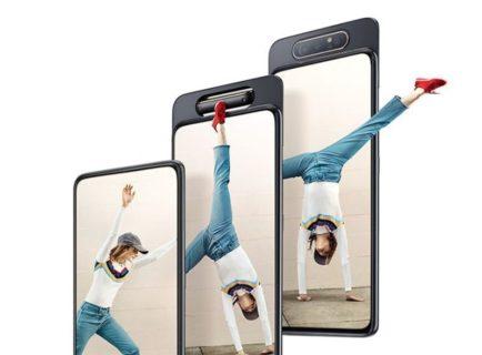 【クーポンで5.2万円】背面カメラがくるっと回転してフロントカメラになる「Samsung Galaxy A80」海外SIMフリー版が書くオンラインストアで発売