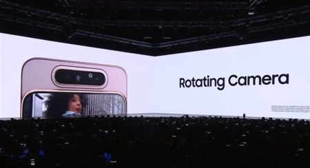 Samsung「Galaxy A80」が面白い~カメラ部がスライド&くるっと回転してフロントカメラに~