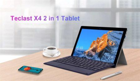【294.99ドルと約60ドル安】11.6インチSurface風2in1タブレット「TECLAST X4」発売! 8GB RAM/128GB SSD搭載で体感速度重視のハイコスパさが魅力