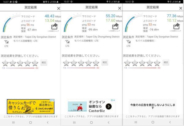 台湾 SIM 使い放題 速度