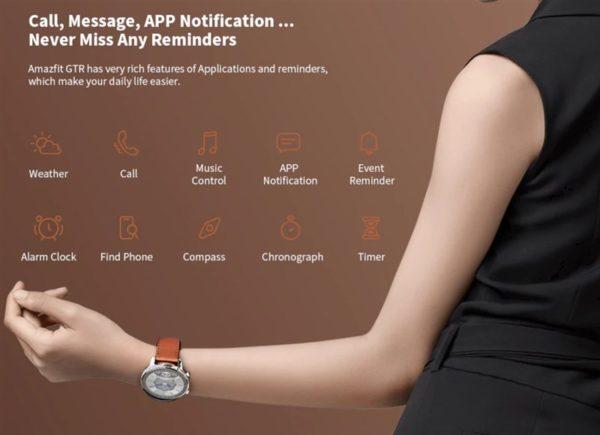Xiaomi Amazfit GTR 価格 スペック スマートウォッチ