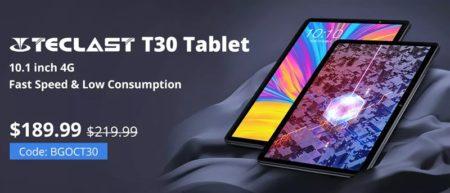 Helio P70搭載「TECLAST T30」が189.99ドルなどクーポン多数~Banggoodで「TECLASTタブレット/PCセール」開催中