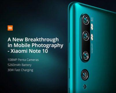 Xiaomi Mi Note10 価格 スペック