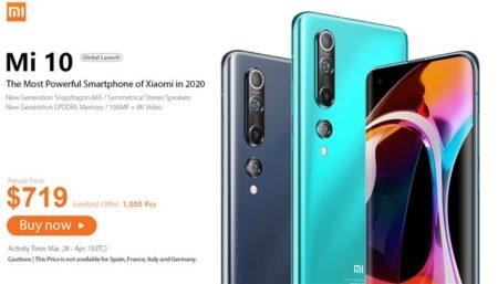 Xiaomiフラッグシップスマホ「Xiaomi Mi 10」が発売~いきなり699.99ドルと激安価格