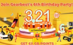 GearBestでストア開設6周年記念「3.21 6周年セール」が開催中~スマホクーポンやAmazfitスマートウォッチもお買い得