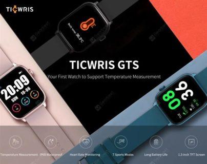 体温計機能が付いたスマートウォッチ「TICWRIS GTS 」発売~約2700円で買えちゃいます