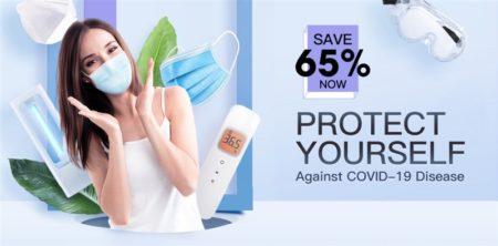 マスクや除菌アイテムが安く手に入る「コロナウィルス対策用品セール」がTOMTOPで開催中~輸入でも送料無料