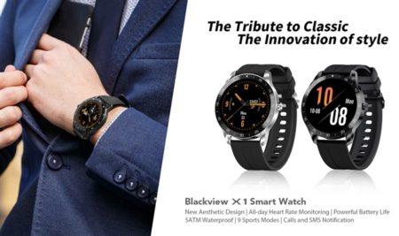Blackviewから通常使用で10日使えるスマートウォッチ「Blackview X1」が発売~LINE通知も受取れて今なら換えバンドが付いて3831円
