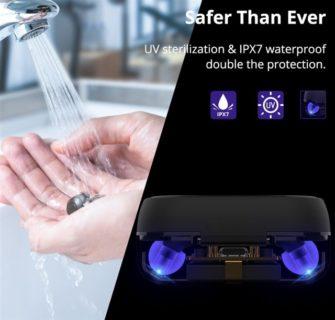 UV(紫外線)殺菌でウィルス除去ができるイヤホン「Tronsmart Onyx Free」が世界に向けて発売! クーポンでわずか34.99ドル(3883円)