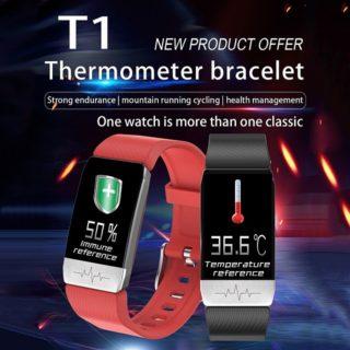 検温機能が付いたスマートバンド「T1 V7486BL」が2,417円! 心拍/血圧なども測れる機能盛り盛りの割に安い