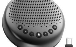 eMeetから電話会議360度集音スピーカーフォン「Luna」発売~約1万円強力なノイズキャンセリングも搭載