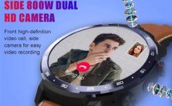 デュアルカメラ/充電ドックが便利なAndroidスマートウォッチ「LEMFO LEM12」が割安販売中