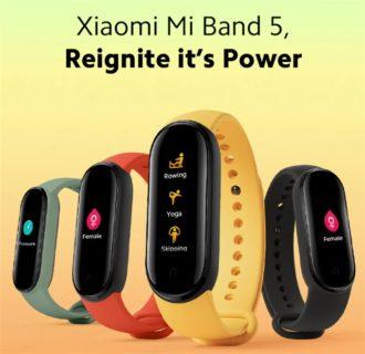 【グローバル版31.99ドルクーポン】定番スマートバンド「Xiaomi Mi Band 5」発売~画面大型化&マグネット充電で利便性も向上