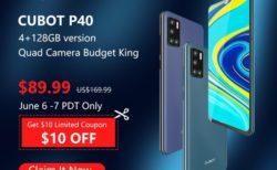 """4眼カメラ搭載「CUBOT P40」が発売記念セールで""""89.99ドル""""! 4G B19プラチナバンド対応で約1万円スマホ"""