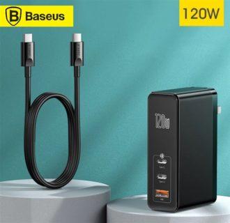 Baseus「120W USB PD充電器」発売! 60W+60Wが可能でPC2台同時充電も可能~価格も5824円と安い