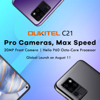 OUKITELが6.4インチ「OUKITEL C21」の発売を予告~Helio P60/パンチホール搭載で100ドル未満!?