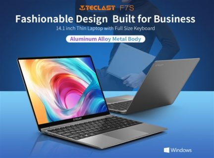 廉価な14.1インチアルミボディラップトップPC「TECLAST F7S」発売~薄型で1.5kgと軽量
