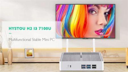 【クーポンで270ドル】第7世代Core i3/i5 搭載ミニPC「HYSTOU H2」~TVを余裕スペックのWin10 PCにできて200ドル台