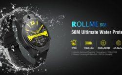 50m防水&8MPデュアルカメラ搭載1.69インチ「Rollme S08 4G LTE SIMスマートウォッチ」発売中~MTK6739搭載でパワフル仕様