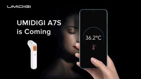 今度のUMIDIGIスマホは体温も測れる!「UMIDIGI A7S」発売を予告~エントリースマホ初の非接触赤外線体温計を装備