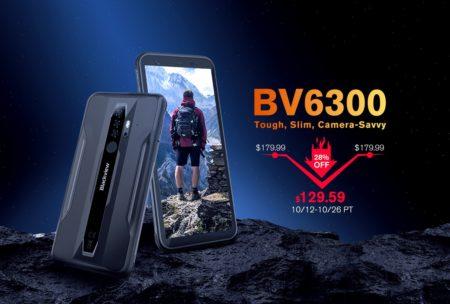 Blackview「BV6300」が50ドルOFFで129.59ドルに!タフネススマホでは世界初のAIポートレートモード搭載