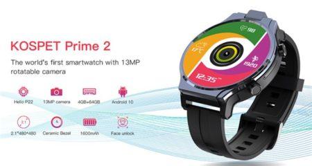 Android10搭載スマートウォッチ「KOSPET Prime2」発売へ~Helio P22/4GB+64GB搭載でほぼスマホレベル