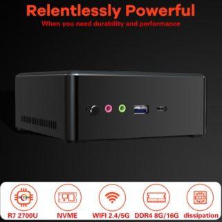 【これは安い!279.99ドル】ミニPC「T-Bao TBOOK MN27」発売~Ryzen7+16GB RAM+512GB SSD搭載で3万円台とアホみたいに安い