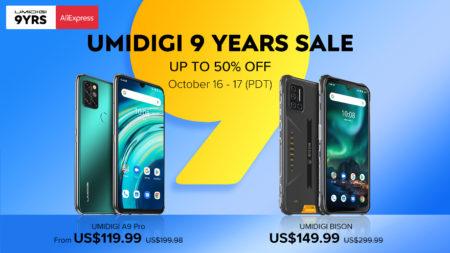 UMIDIGI BISON と A9 Proが50% OFF! Helio P60搭載タフネススマホが150ドルとか安すぎる