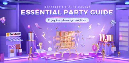 Gearbestで「11.11セール買い物ガイド」が公開~セールと週末クーポンも! いよいよ1年で最も安い独身の日セールが始まる