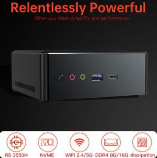 【16GB+512GBクーポン追加】第3世代 Ryzen5搭載「TBOOK MN35」ミニPC発売~クーポン等でたった3.5万円は安すぎる