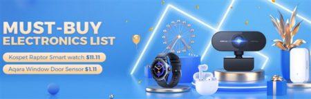 """Gearbestで「11.11セール」の一環でスマートウォッチが安い""""マストバイエレクトロニクス""""がスタート! 半額以下クーポンやAmazfit T-Rexなど激安"""