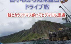 【旅行記】北海道でのんびりドライブ旅~知床羅臼で鮭とカラフトマスを釣ってヒグマにも出会った