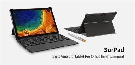 【クーポン追加】CHUWI Android10タブレット「SurPad」発売~Helio P60搭載/キーボード接続でPCライクに使える