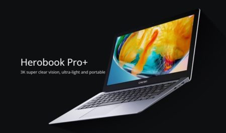 3Kディスプレイ搭載ノートPC「CHUWI HeroBook Pro+」が発売~269ドルと3万円切り