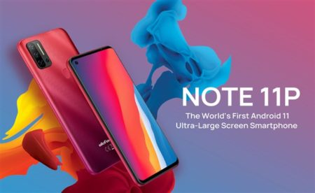 6.55インチスマホ『Ulefone Note 11P』発売~1.5万円でエントリー機ながら4G B19対応/8GB RAM搭載