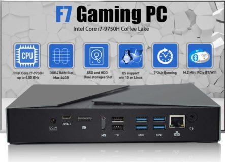 Core i9-8950HK + GeForeceGTX1650搭載ミニPC「HYSTOU F7」発売中~20cm角ほどと小さいが使えるゲーミングPC
