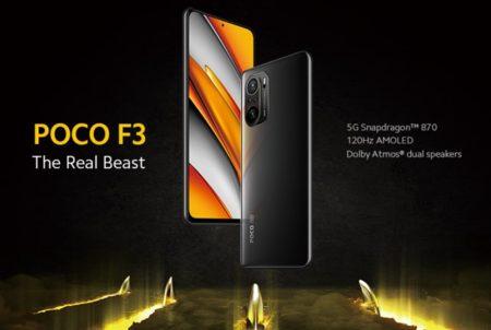 【50ドルオフクーポン出た!】Xiaomiからまた価格破壊スマホ登場! 「Xiaomi POCO F3」発売~スナドラ870/120Hz AMOLEDディスプレイで299ドル~