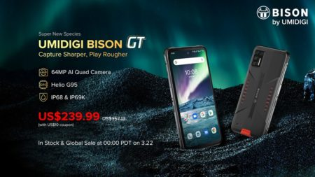 AnTuTu30万点のタフネススマホ「UMIDIGI BISON GT」が正式発表~Helio G95/64MPクアッドカメラ搭載で239.99ドル