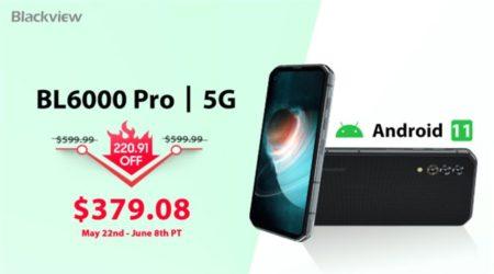 Android 11.0搭載タフネススマホ「Blackview BL6000 Pro」が379.08ドル(220.91ドルオフ)で発売 : PR