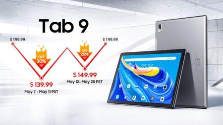 Blackviewが格安Androidタブレット「Tab9」を発売! 最大30%オフ(60ドル)となる早期割引きも実施 :PR
