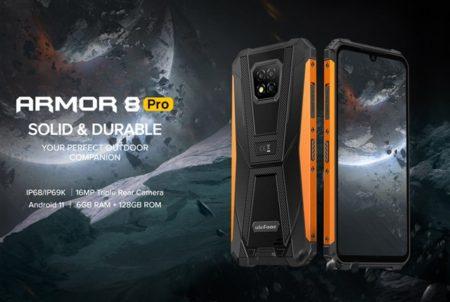 定番タフネススマホ「Ulefone ARMOR 8 Pro」発売~6GB+128GBにスペックアップし3キャリアプラチナバンド対応で1万円台