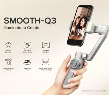 人気シリーズ折り畳みスマホジンバル「ZHIYUN SMOOTH Q3」が発売! スマホアームにLEDが付いて暗所でも撮影可能に!価格も8000円台とリーズナブル